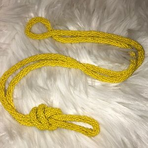 Beautiful beaded Yellow necklace